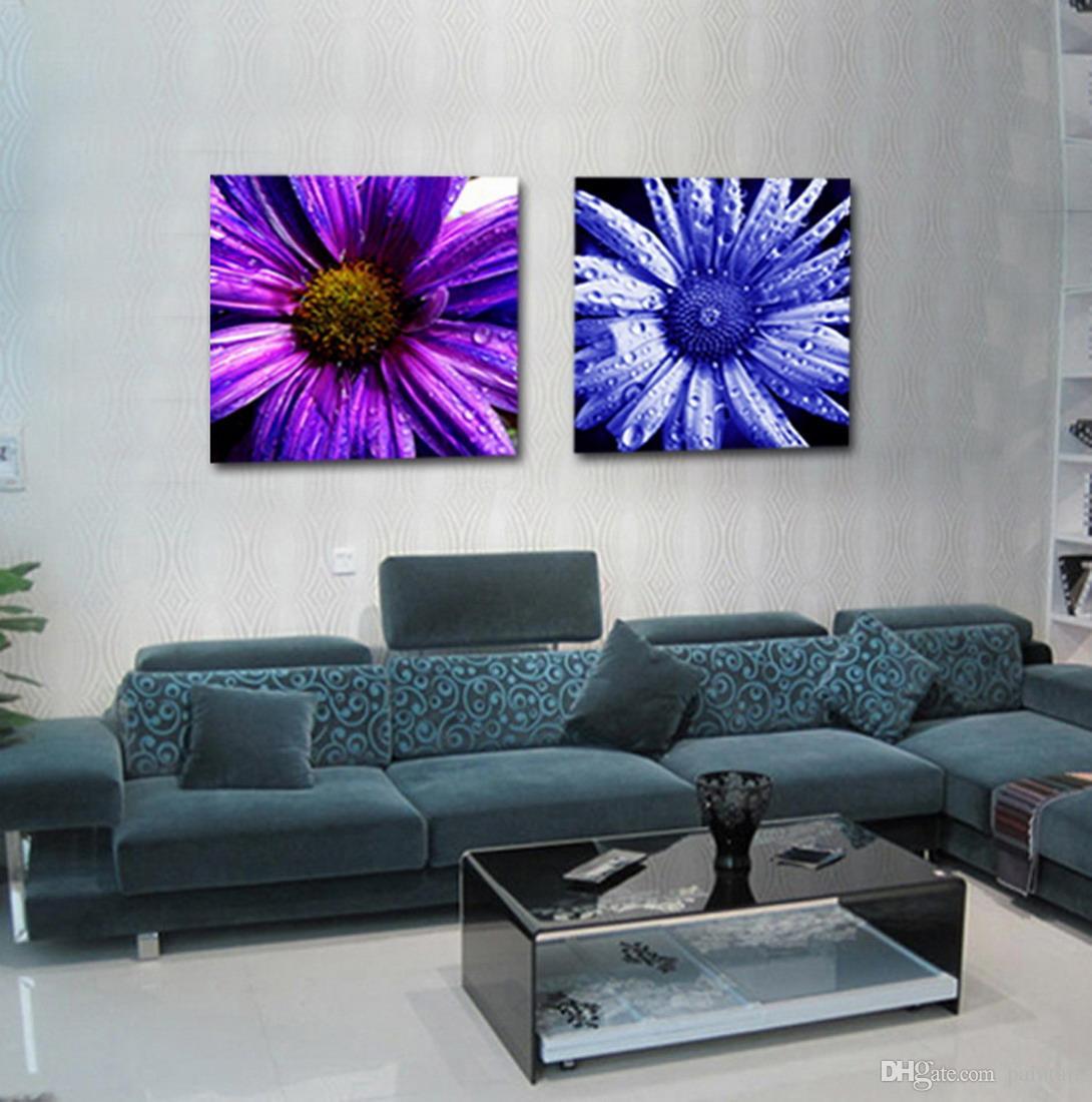 Flor de crisantemo pintura floral moderna impresión giclee sobre lienzo Home Wall Art Set20110