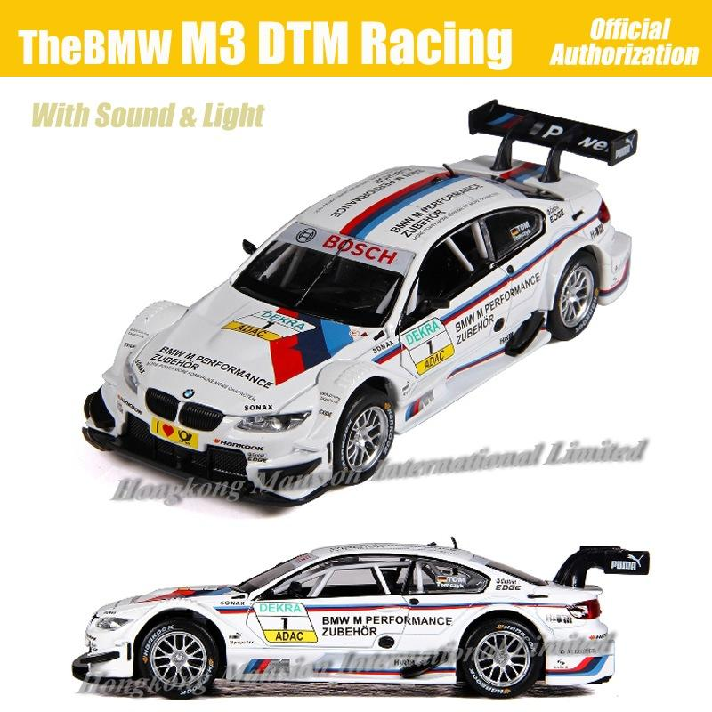 1:32 Scale Diecast Alloy Metal Luxury Racing Car Model For TheBMW M3 DTM Collection Model Pull Back Toys Car With Sound&Light
