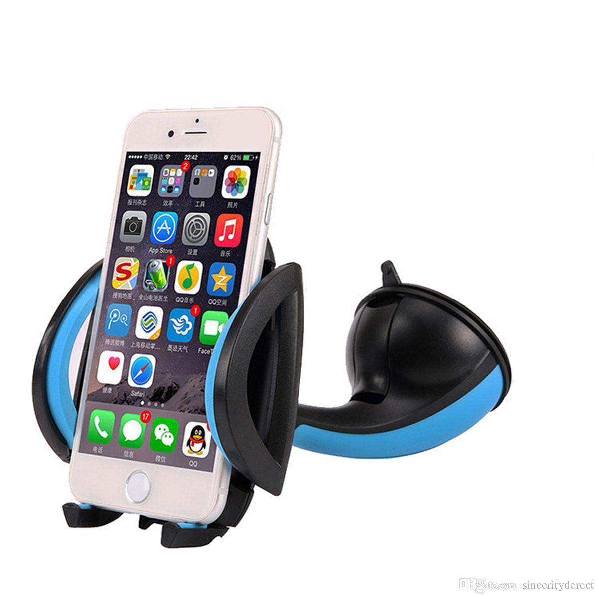 Auto Windschutzscheibe Dashboard Halter Halterung Stand 360 ° Rotation Universal für iPhone Sumsung GPS PDA Handy