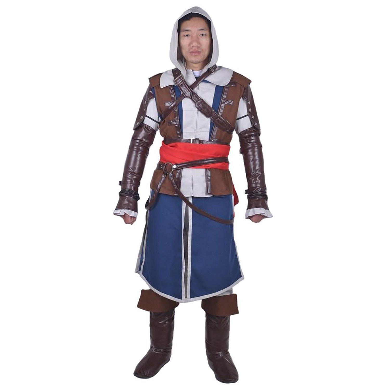 Mens Halloween Dress up Costume Abbigliamento Abito Mantello Nero su misura Edward