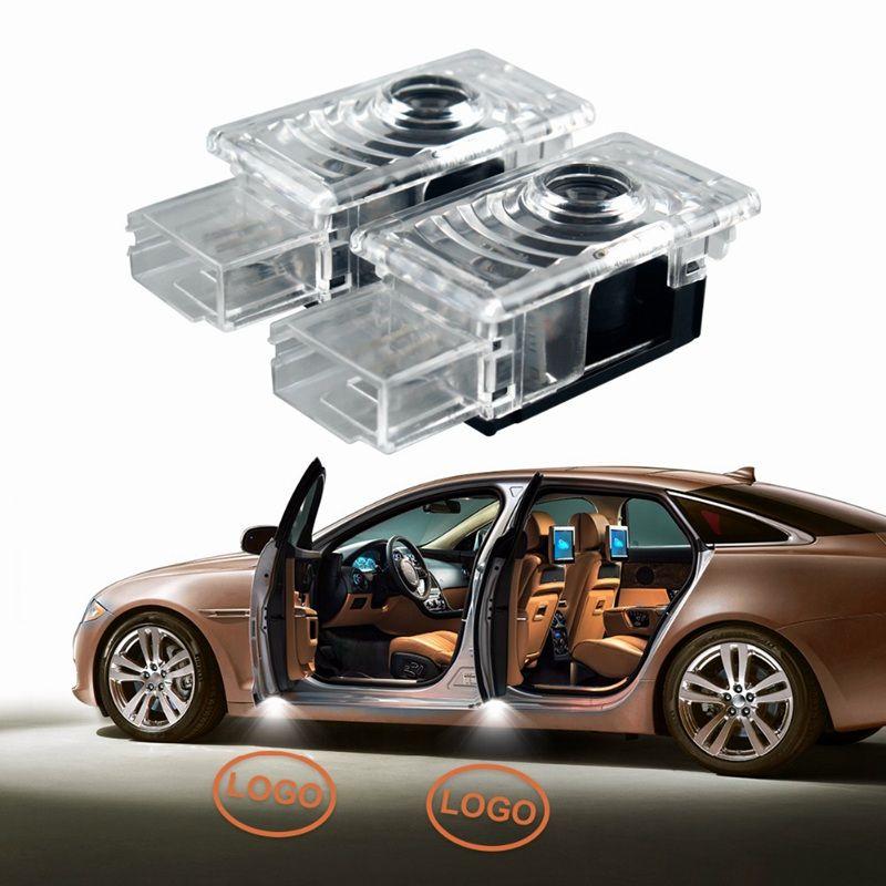 2 шт. / Лот автомобиль дверь светодиодного светодиода Добро пожаловать лазерный проектор логотип призрак тени тени для Cadillac SRX ATS CTS XTS