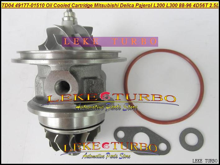 TD04-09B 49177-01510 Oil Cooled Turbocharger Cartridge Turbo Chra Core Mitsubishi Delica Pajero I L200 L300 1988-96 4D56T 2.5L
