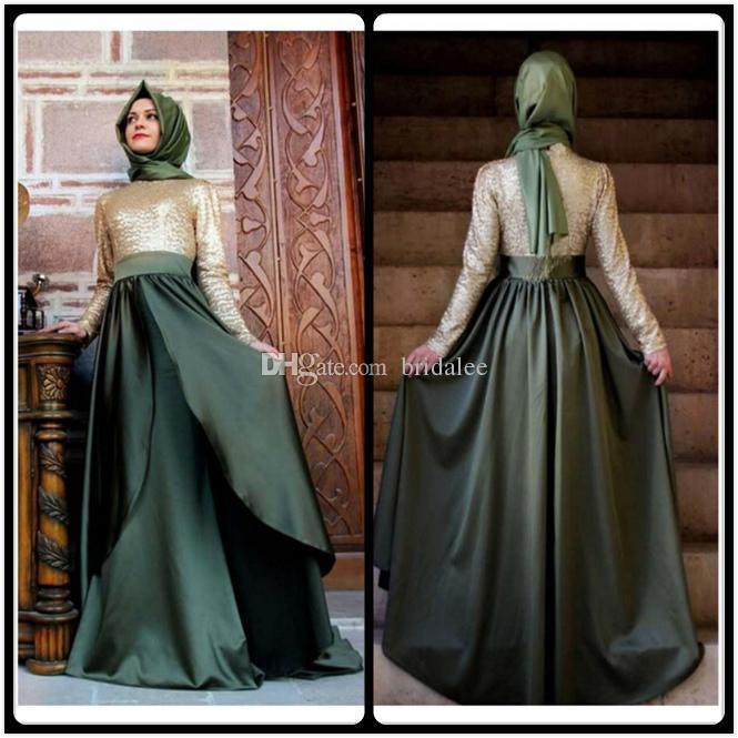 Long Dubai Muslim Kaftan Arabic Turkish Evening Dress Robe Abayas for Woman Islamic Evening Gowns Custom Made Prom Party Dresses