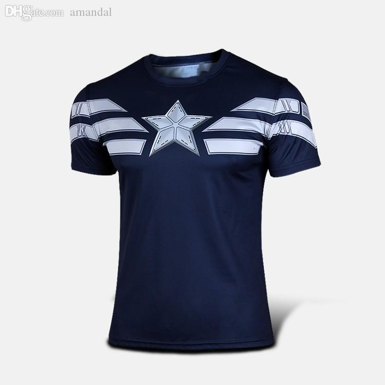 En gros-2016 mode comique Marvel Deadpool T-shirt Costume Compression Sportswear Fitness Sport Camisetas Masculinas à séchage rapide
