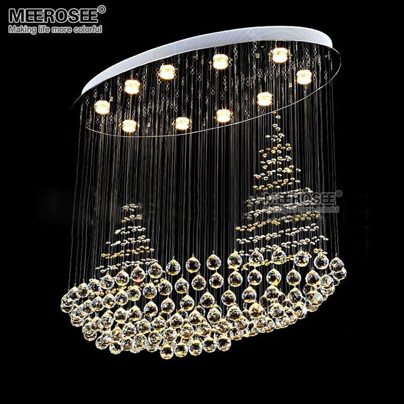 Creative Crystal chandelier light fitting K9 Crystal Mounted lamparas lustre de cristal for Stair Foyer Hotel Project Restaurant