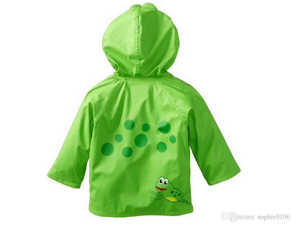 Kleidung Verbesserte Strahlen Mädchen Frosch Regenmäntel Regenmantel Regen Großhandel Slicker Baby Kinder Mantel rCxBdoeW