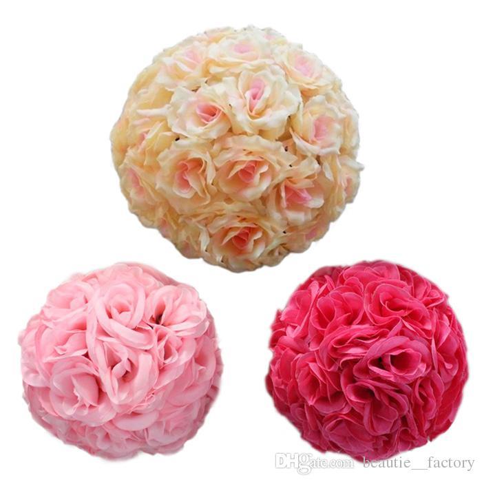 18cm de soie artificielle rose pomandre fleur boules de mariage garçon de mariage bouquet maison décoration ornement ballon ballon
