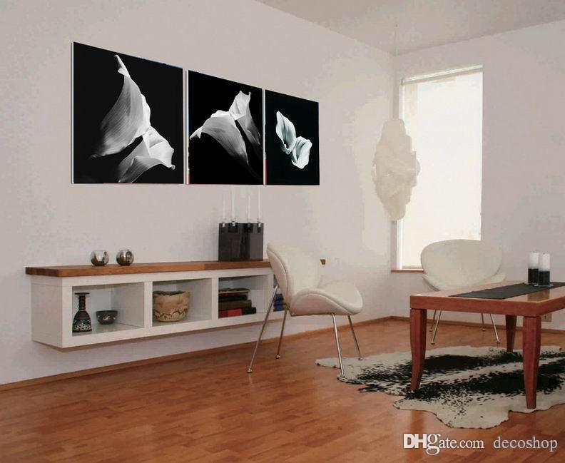캔버스의 giclee 인쇄 벽 장식 Set30389에 현대 공통 Callalily 칼라 백합 꽃 그림