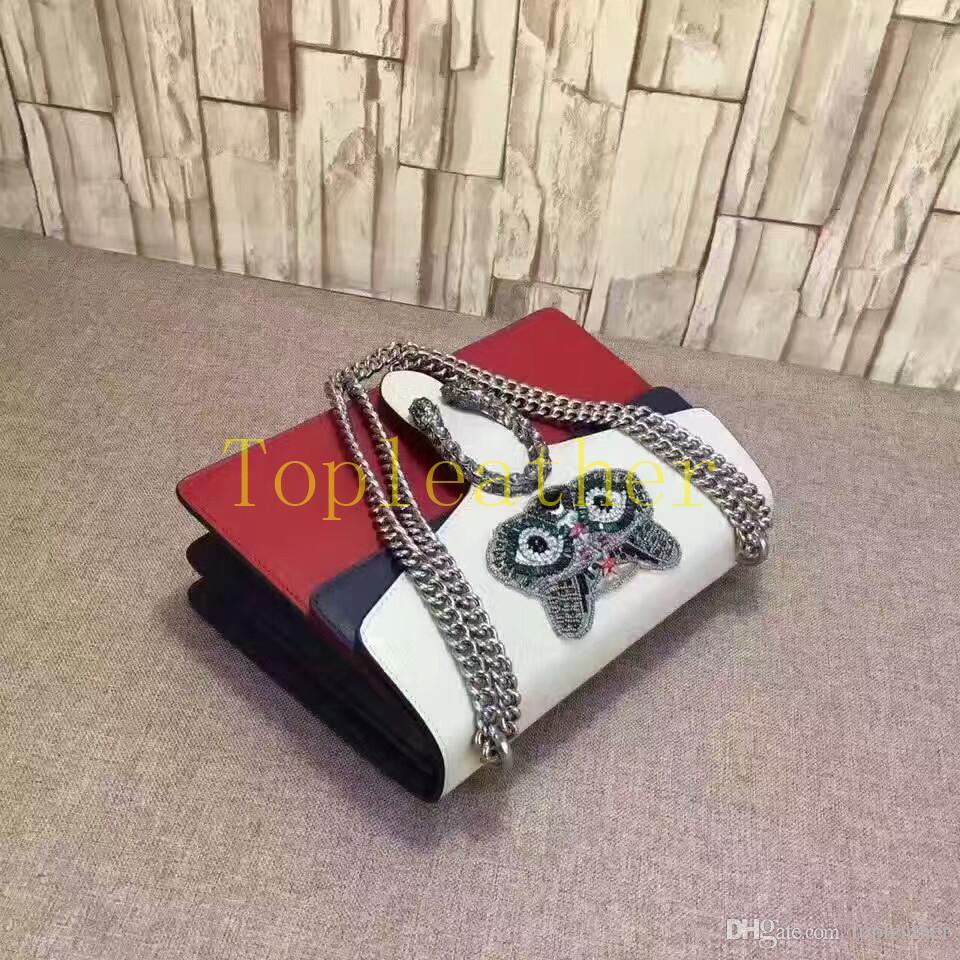 Großhandel 30 Cm Echtes Leder Frauen Tasche Schwarz Rot Weiß Fox Handtaschen Die Neueste Damen Taschen Top Qualität Leder Material Die Beste