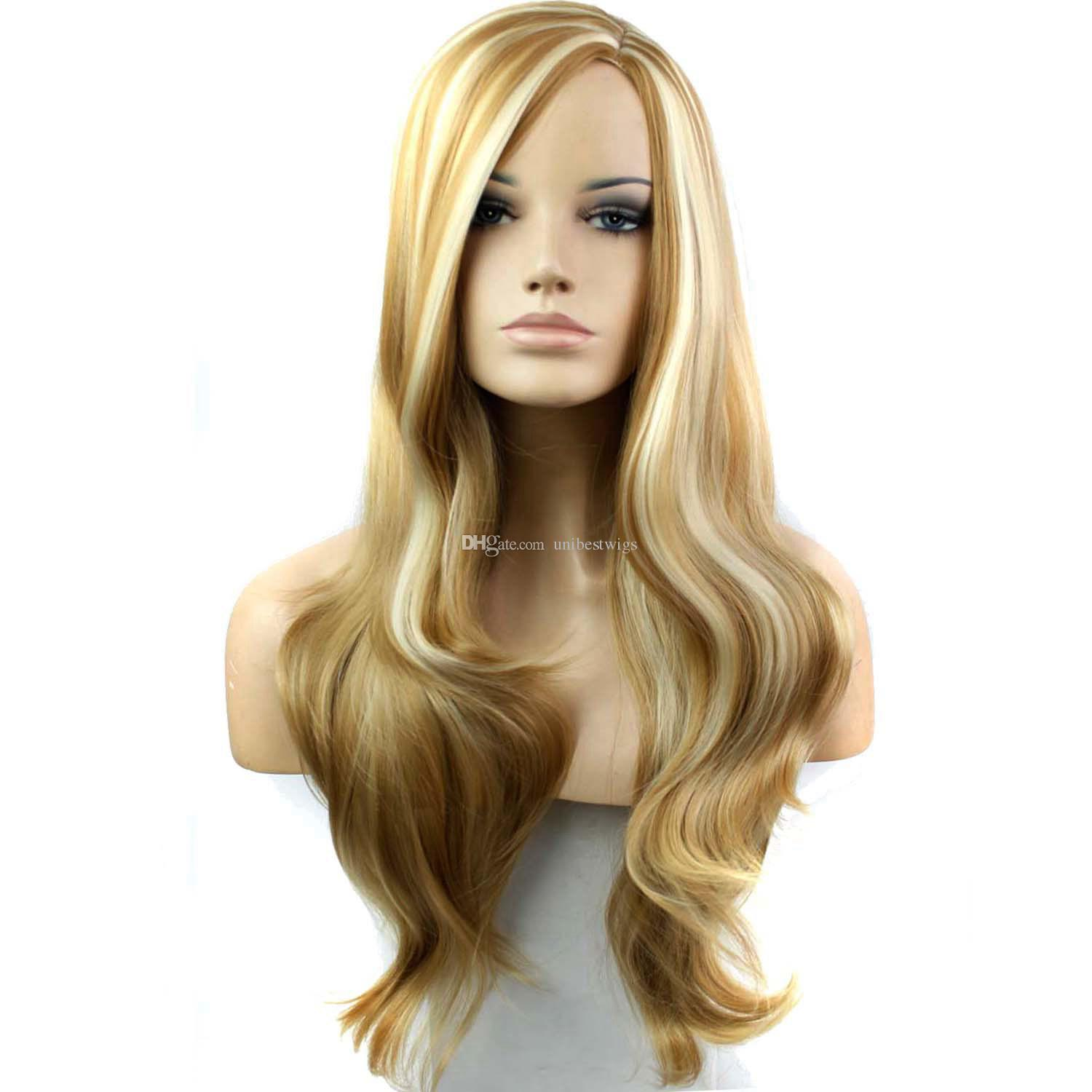 2016 New Style Women S Synthetic Blonde Wigs Cheap African American