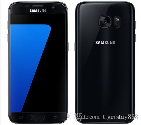 """Chegada nova Original Samsung Galaxy S7 / Galaxy S7 Edge 5.1 """"Câmera de 12MP 2160p 4GB RAM 32GB ROM 4G LTE único SIM telefone recondicionado"""