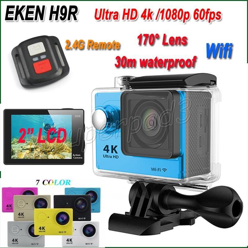 "EKEN H9R Sports Camera Camcorder 2"" LCD Screen WiFi Real 4K Video 1080p 60fps 170° Wide Angle Waterproof Helmet Action Camera"