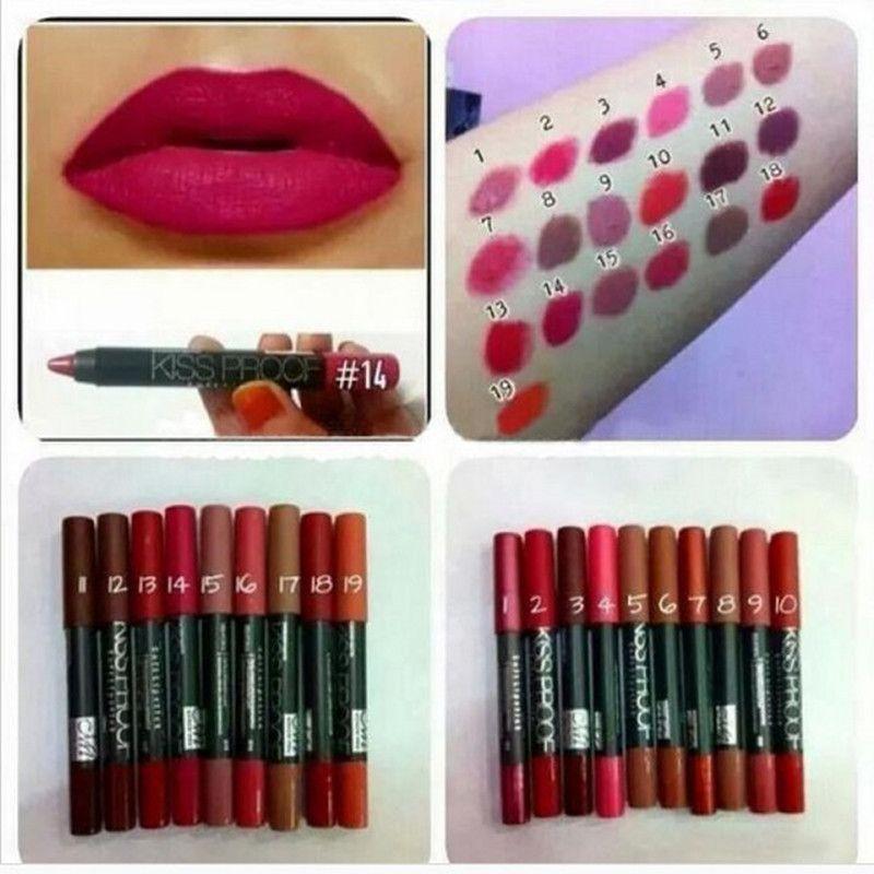 뜨거운 판매 Menow P13016 메이크업 매트 kissproof 립스틱 오랫동안 지속적인 효과와 방수 매트 소프트 립스틱