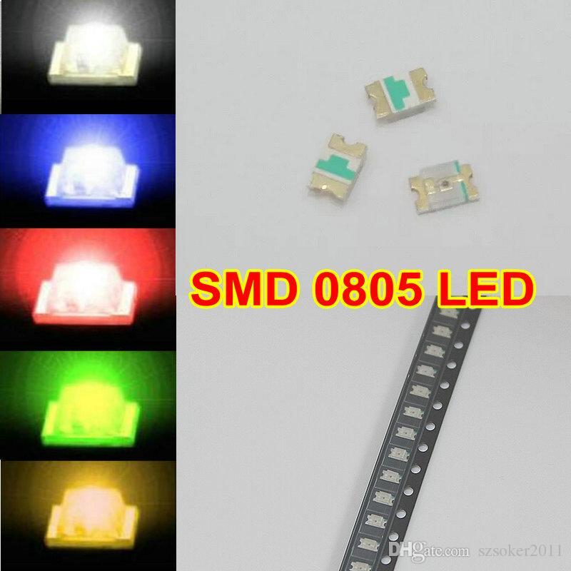 5valuesx200pcs = 1000pcs SMD 0805 화이트 레드 블루 그린 노란색 LED 램프 다이오드 울트라 밝은