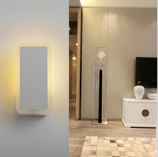 applique da parete AC85-265V Lampada da parete moderna accanto a parete Lampada da letto da bagno in alluminio di alta qualità da 6W