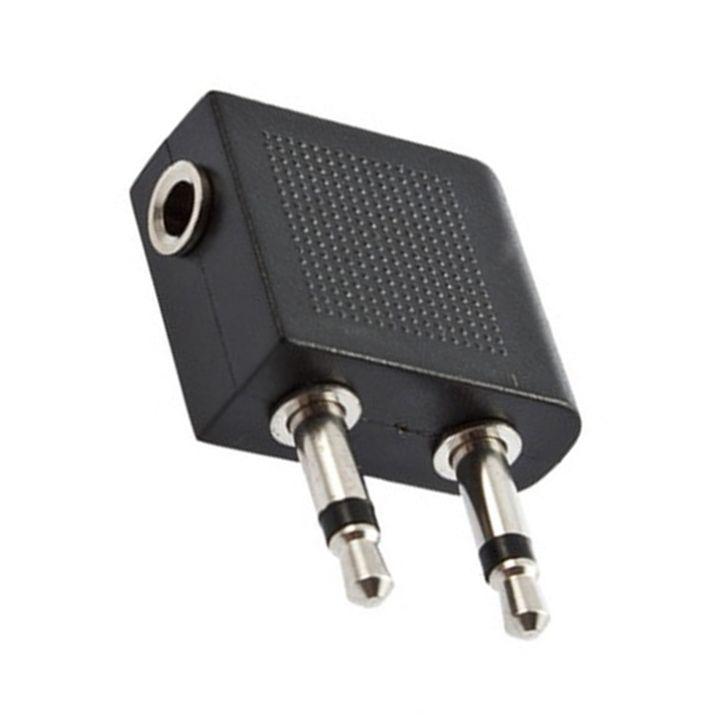 3,5 мм до 2 х 3,5 мм стерео наушники Наушники аудио адаптер разъем для воздуха самолет авиакомпании C1 Оптовая