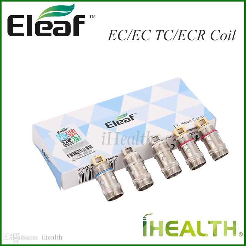 진정한! Eleaf EC 2 iJust 2 용 코일 헤드 Melo 2 / Melo / Melo 3 / Melo 3 미니 분무기 EC 0.3 / 0.5ohm EC-Ti 0.5ohm EC-Ni 0.15ohm ECR