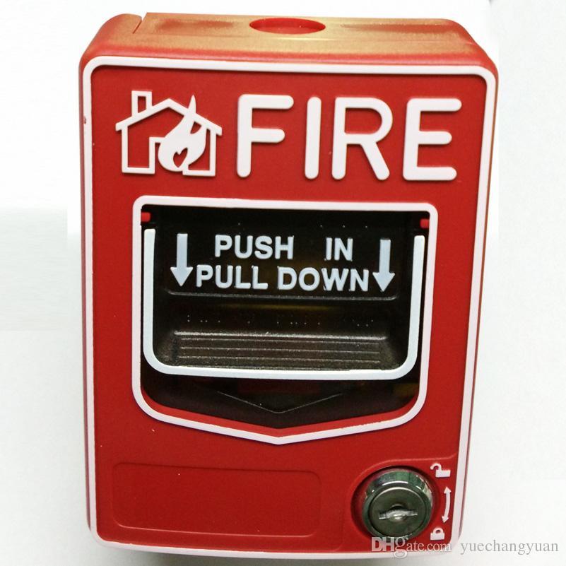 يمكن إعادة تعيين زر الإنذار بالحريق اليدوي التقليدي Call Point 2 بواسطة مفتاح دون كسر الزجاج
