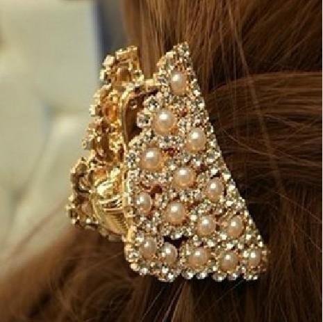 F286 'delicato temperamento aristocratico Lussuoso diamante squisito perla, graffio fermaglio a forcella