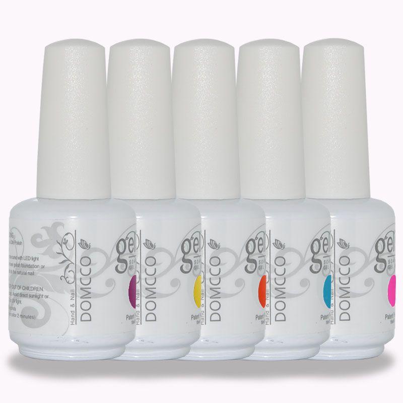 500pcs / lot Alta qualità DOMCCO DOMCO ULTIMA LUNGO SOAK OFF LED GEL UV Polacco Nail Art