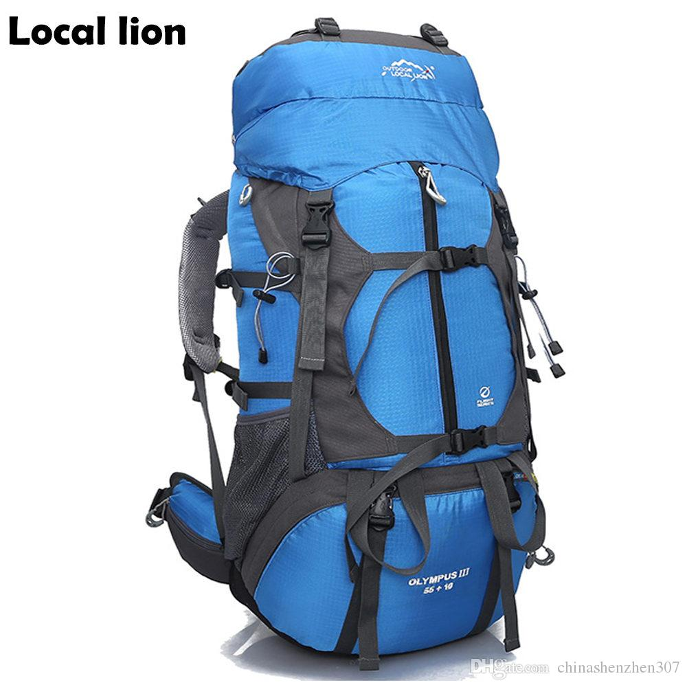 Zaino 65L Hiking Rain Zaino Holder Portaggio con borsa spalla all'aperto Alpinismo Camping Cover Packsack del campeggio Amreb