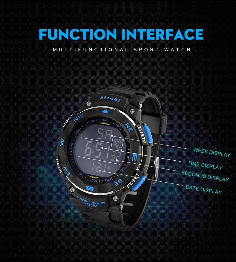 3.digital rubber watch