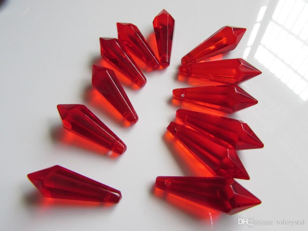 Icicle Chandelier Crystal Prism Blood Red Mm Icicle Spear - Chandelier crystals red