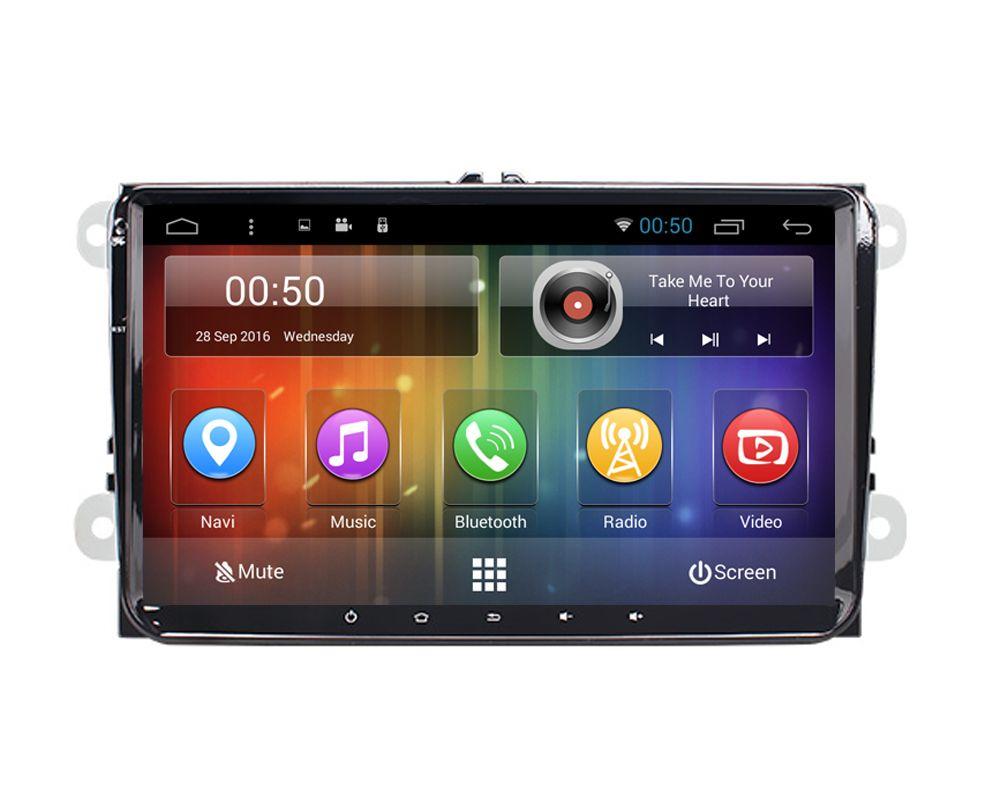 Android 6.0 Car DVD PC com GPS e 3G / WIFI Internet para VW GOLFE POLO PASSAT TURIANO TIGUAN EOS JETTA
