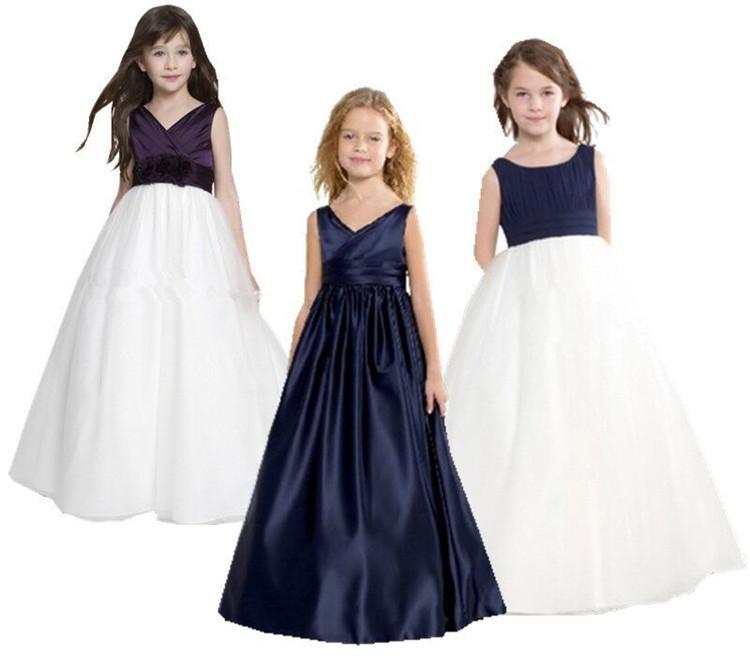 El nuevo vestido de niña La boda de los niños El vestido de niña de flores La princesa Edad de amargo Fleabane Falda de fleabane amarga Vestido de noche de cumpleaños