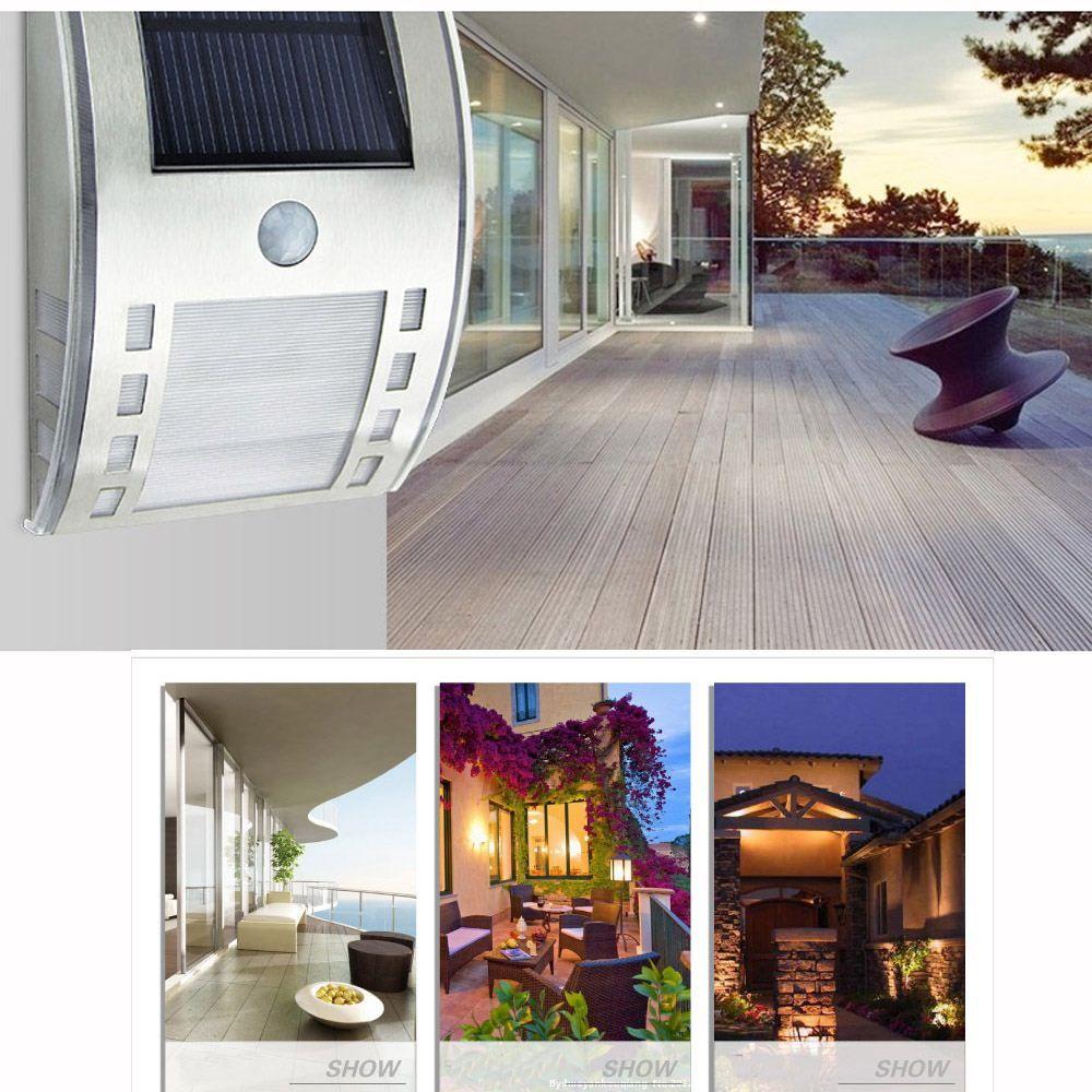 2018 No Wiring Solar Wirless Pir Motion Light Sensor Led Wall Lamp For Garden Door Entrance