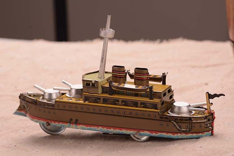 Retro Tinplate Warship Clockwork Collections Vintage Tin Wind Up ...