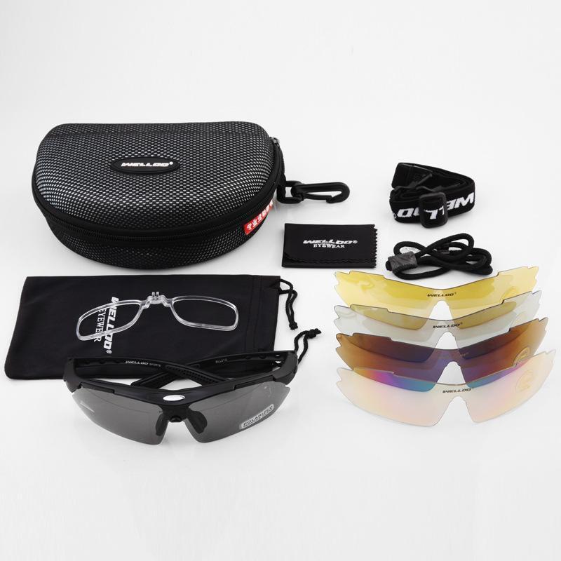 Fahrrad-polarisierte Licht-Gläser im Freien Sport 5 PC Objektiv Bringen Myopie Fahrt Gepäck Objektive Radar Riesen Mtb Rockbros Radfahren vorbereiten