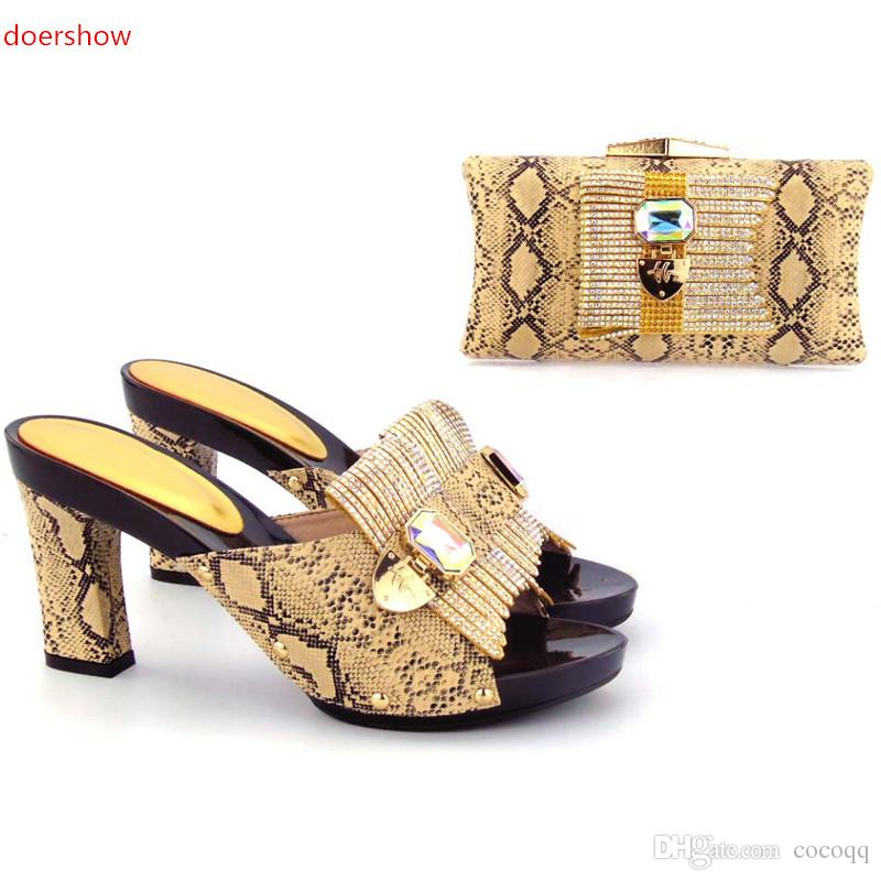 Beautiful African Style Shoes And Matching Bag, Ladies Italian Shoes And Bags With Nice Rhinestones For Party ! ZO1 25 Womens Shoes Shoes For Women