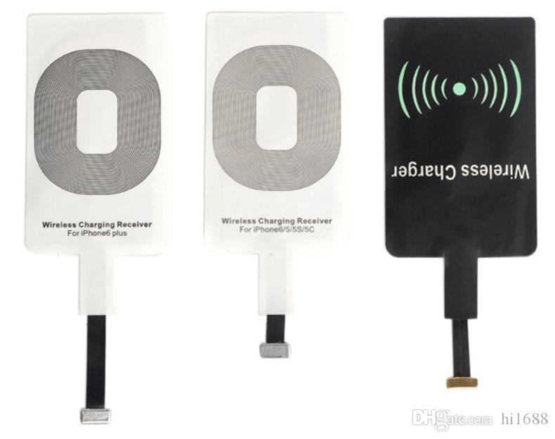 Qi sem fio receptor de carregamento sem fio carregador receptor usb receptor de carregamento pad compatível com tudo para iphone 5 / 5s / 5c / 6/6 plus
