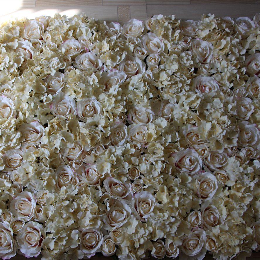 Blumen-Wandrasen / -pfosten der EMS-freien Shipping-10pcs / lot Champagner künstlichen silk rosafarbene, die Hintergrund-Straßenblei-Marktdekoration heiraten