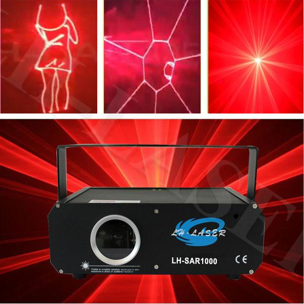 1000mw Single Red Color Voice-Control Puntatore laser Disclo DJ Lighting Xmas Party Stage Light Parterns Proiettore