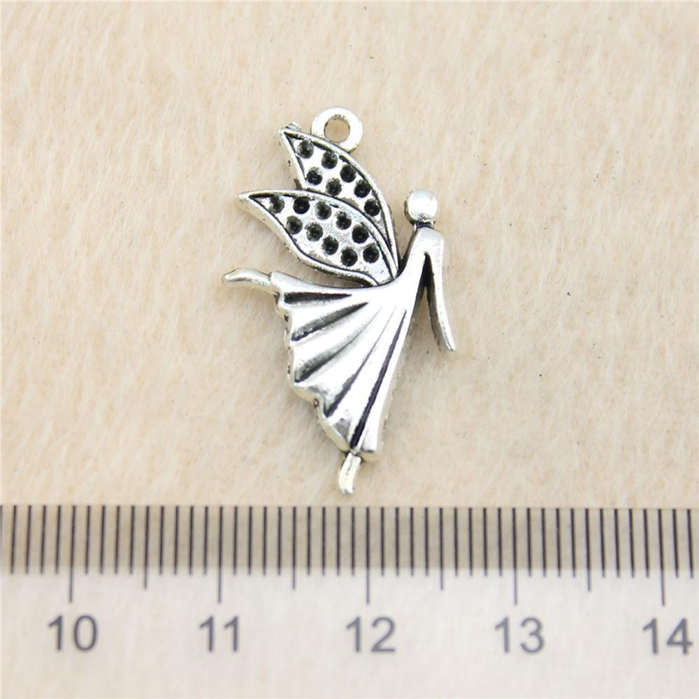 40pcs 29 * 16mm antiguos de plata Toneangel encantos joyería de los colgantes de aleación de zinc de bricolaje al por mayor hechos