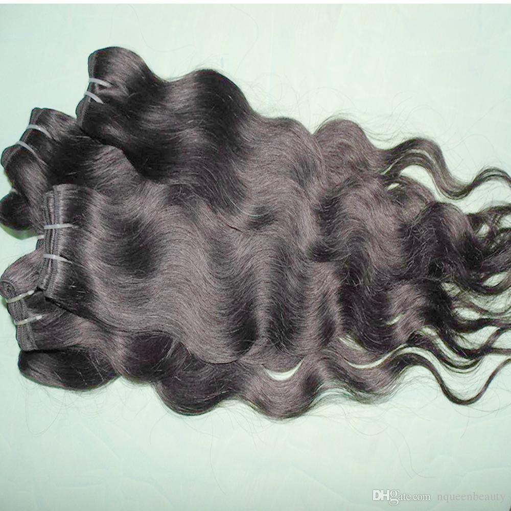 Toptan Saç Ürünleri Siyah Örgü Brezilyalı Vücut Dalga Kraliçe Brezilyalı Dalgalı 20 adet Ucuz İşlenmiş İnsan Saç