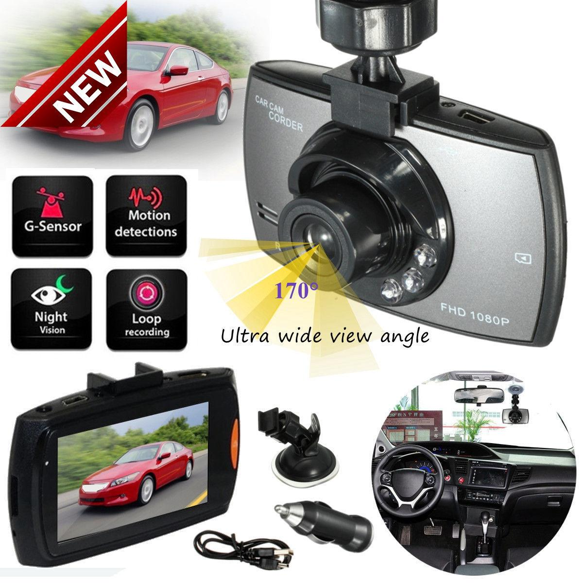"2 PACK  HD 2.7/"" LCD 1080P Dash Cam Car DVR Vehicle Camera Video Recorder"
