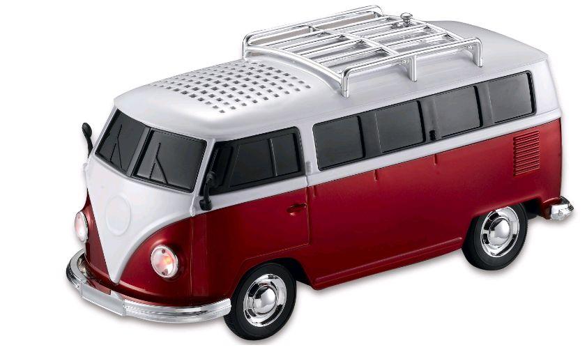 هدية عيد الميلاد WS-266 الملونة مصغرة شكل المتحدث سيارة ميني باص صوت مكبر الصوت مربع MP3 ++ U القرص + TF + FM وظيفة
