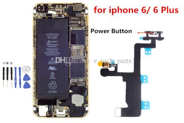 iPhone 6 4.7 inç iPhone 6 artı 5.5 inç için 10pcs Açma Kapama Düğmesi Anahtarı Flaş Flex Kablo Tamir Parçaları