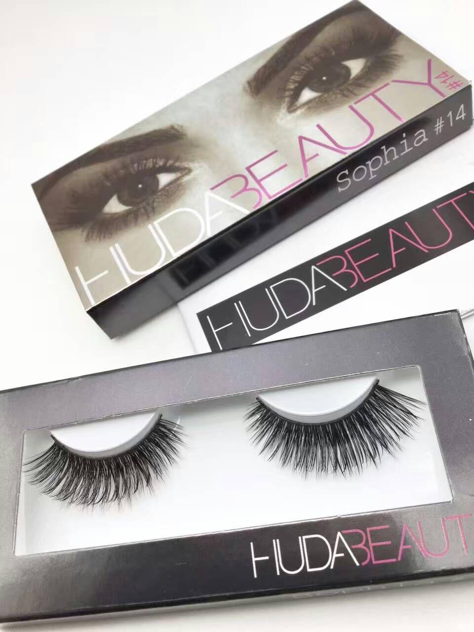 bbcc91736cd Huda Beauty False Eyelashes Messy Cross Thick Natural Fake Eye Lashes  Professional Makeup Tip Bigeye Long ...