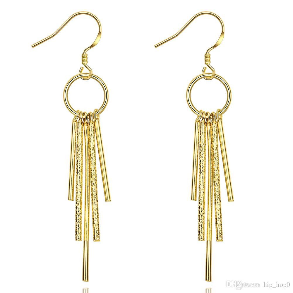 Tassel Long Earrings 18K Gold Bohemia Jewelry Fashion Nickle Free Antiallergic Dangle Earrings 2016 New Arrival Boho Jewelry
