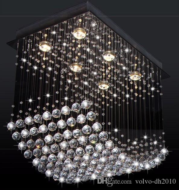Nuevas lámparas de techo de cristal K9 de primera clase lujosas y modernas de Fashional Comedor Luz colgante Luces de techo de la sala de estar LLFA