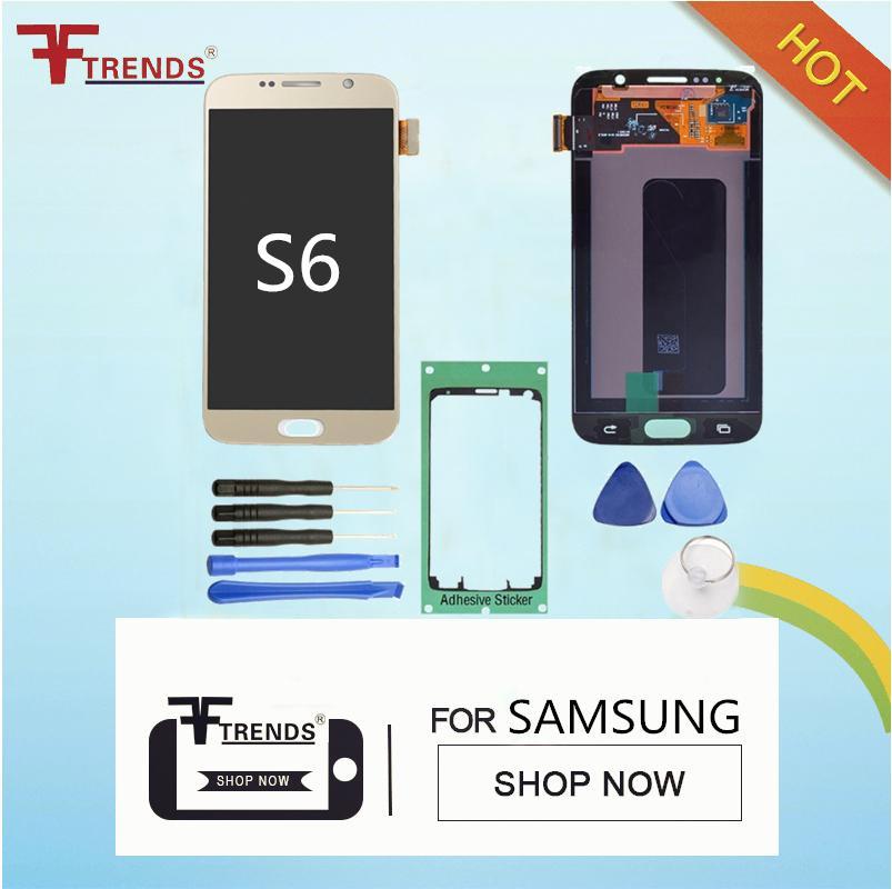 Para Samsung Galaxy S6 G920 G920R4 G920T G920P G920V G920A G920F Original Display LCD com tela de toque digitador da tela de substituição