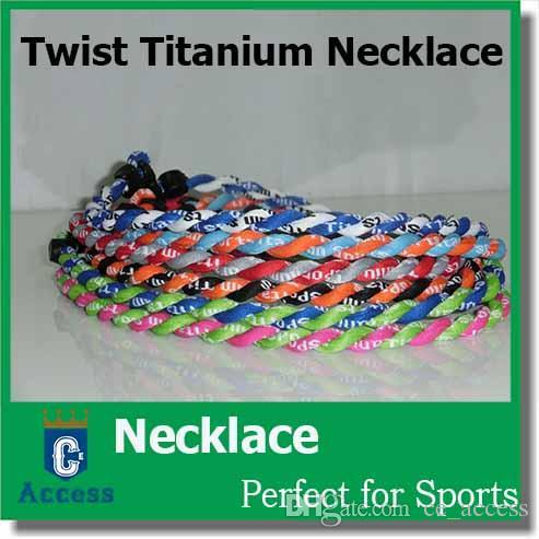 Recaudador de fondos Lot 100 Tornado Twist Titanium Collar deportivo 3 Cuerda 2 Cuerda