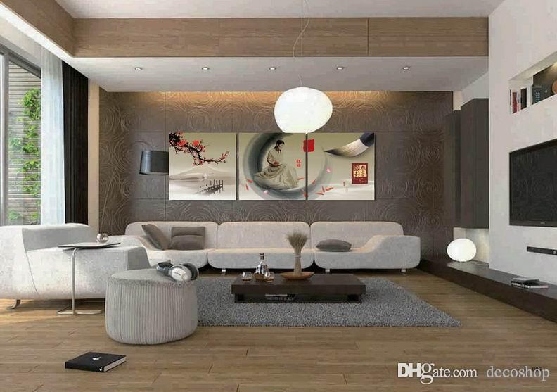 Ameixa Flor Flor Wintersweet Pintura Giclee Impressão Na Lona Home Decor Wall Art Set30246