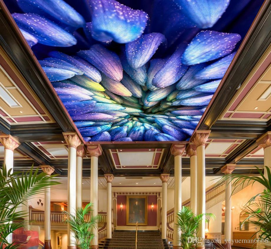 Grosshandel Decke 3d Tapete Traum Galaxy Sternenhimmel Vliesstoffe Wandbilder Fur Wohnzimmer Decke Dekorative Tapete Von Yeyueman6666 27 14 Auf