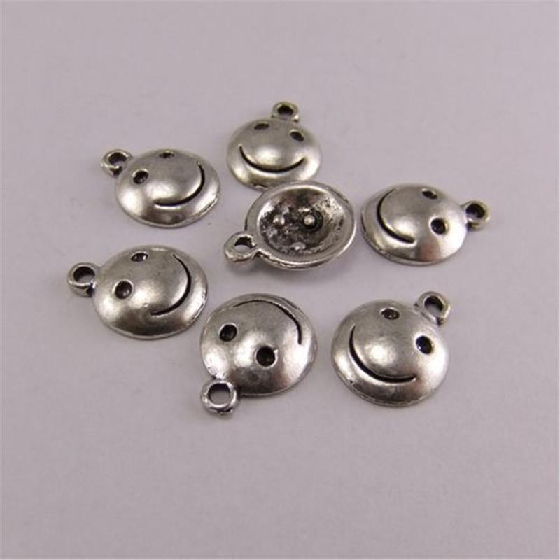 10 Adet / paket Antik Gümüş Çinko Alaşım Kolye Charm Takı Bulma 10 * 10mm AU03248 takı yapımı