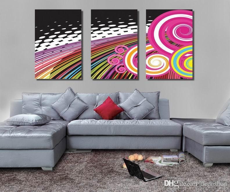 현대 정밀 추상 판타지 회화 Giclee 인쇄 캔버스 벽 예술 홈 장식 Set30365